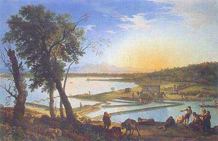 View of the Salt Pans near Ostia