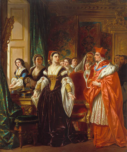 A Scene from Shakespeare's Henry VIII; Cardinal Wolsey and Katherine of Aragon