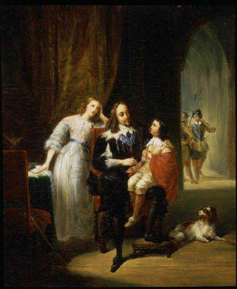 Charles I  Awaiting Trial with Princess Elizabeth and Prince Henry