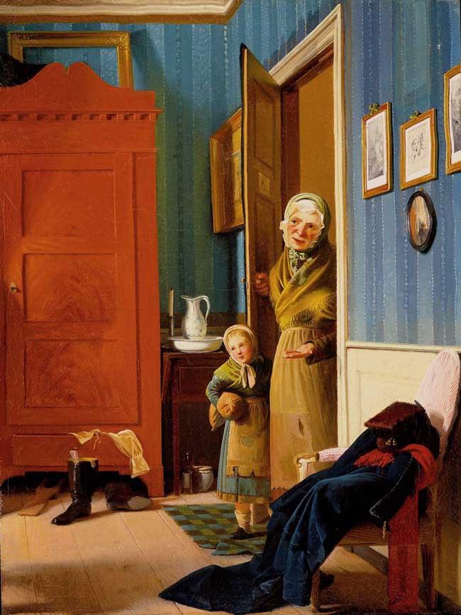 The Visit of the Beggar and her Child (En tiggerkone med sit barn)