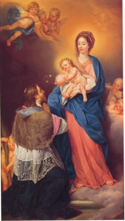 St John Nepomak receiving attributes from the Infant christ