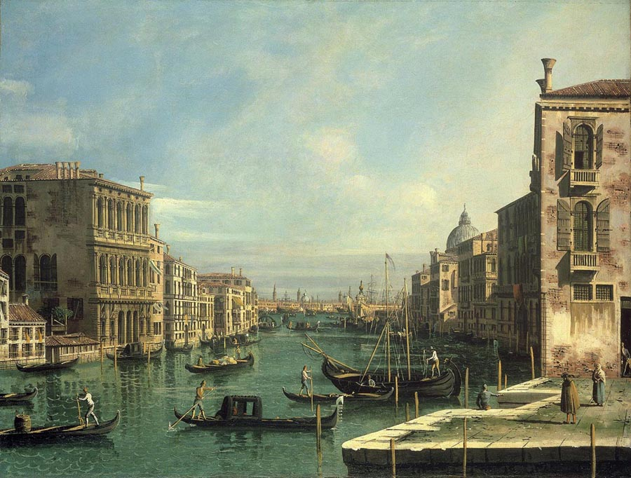 The Grand Canal from the Campo San Vio